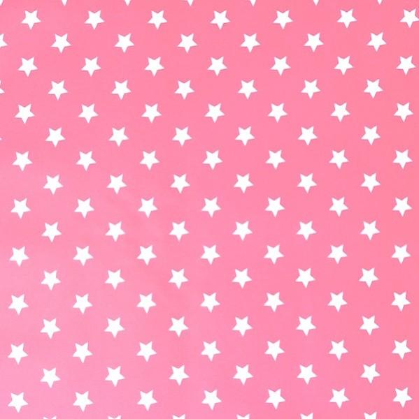 Laminat, Sterne weiß auf dunkelrosa