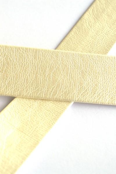 Einfassband Kunstleder, 25 mm, elfenbein
