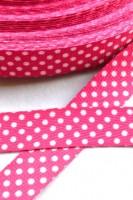 Köperband, gepunktet, pink *SALE*