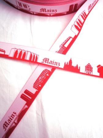 Mainz Skyline, rot, Webband *SALE*