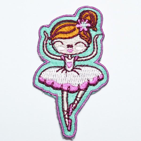Applikation Ballerina auf türkis