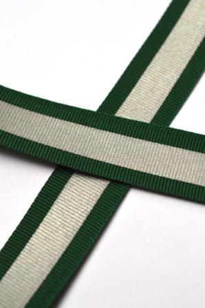 reflektierendes Ripsband, dunkelgrün
