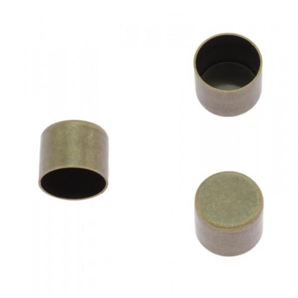 Kordelendkappe, altmessing, 10 mm