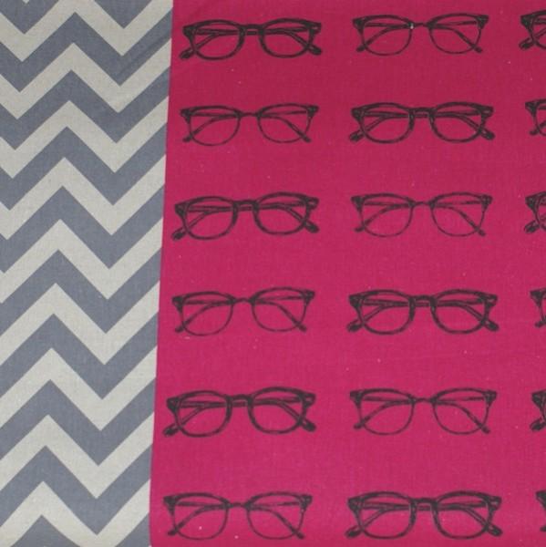 Echino Brillen Chevron auf pink, Canvas