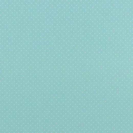 Alma, Laminat/Wachstuch, Punktchen auf aqua