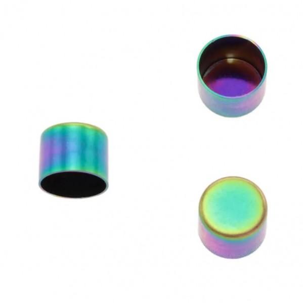 Kordelendkappe, regenbogen, 10 mm