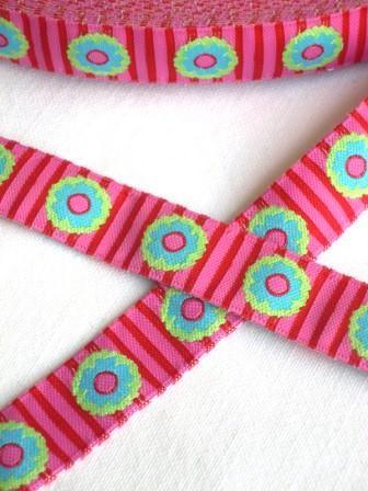 Sommerblumen, pink, Webband