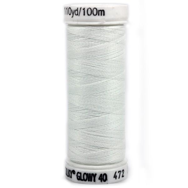 Maschinenstickgarn Glowy 40, weiß (8)