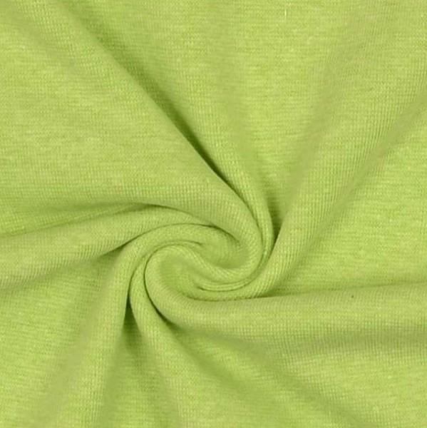 Glattes Bündchen hellgrün-meliert
