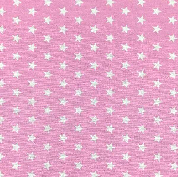 Stars weiß auf rosa, Dekostoff, *SALE*