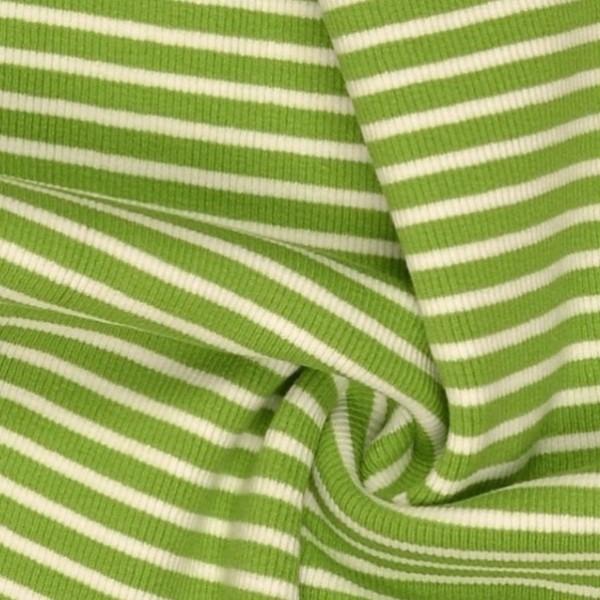Felix Ringelbündchen weiß auf hellgrün gestreift