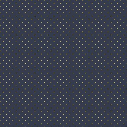 Bio-Jersey, Mini-Dots senf auf dunkelblau