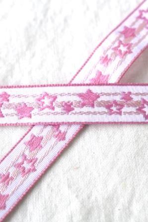 Sternchen, rosa, Webband