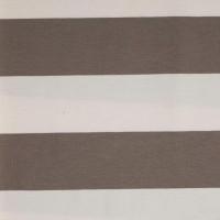 Alberto Bio-Jersey Blockstreifen, taupe/weiß