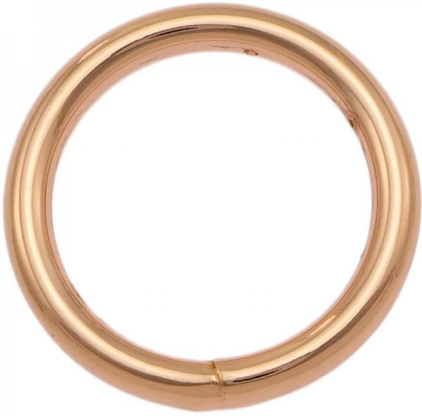 Geschweißter Eisenring, 20 mm, rose gold / kupfer