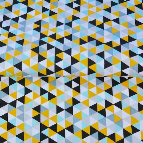 Stenzo Triangles senf-schwarz, Popeline
