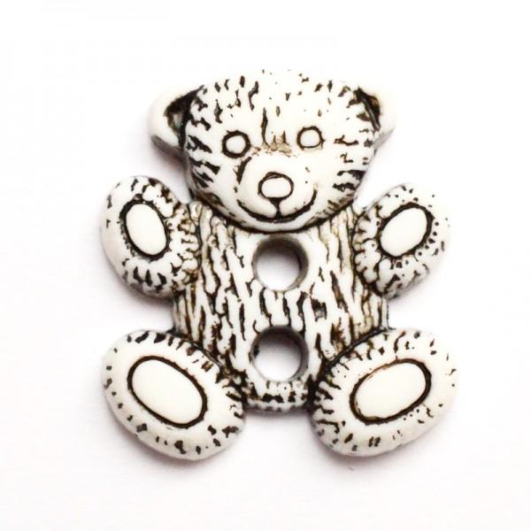 Teddybär, 2-löchrig, Knopf