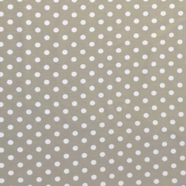 Emil, Punkte, offwhite auf beige, Jersey