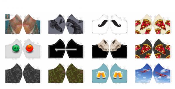 Maskenstoff Boys, für 12 Masken, Paneel, Baumwollstoff, waschbar bei 60°