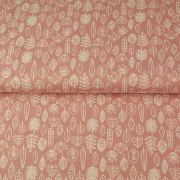 Stenzo Blätterreigen weiß auf rosa, Jersey
