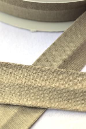 Viskosejersey-Schrägband, beige