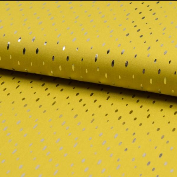 Viskosewebstoff Foil Print senf