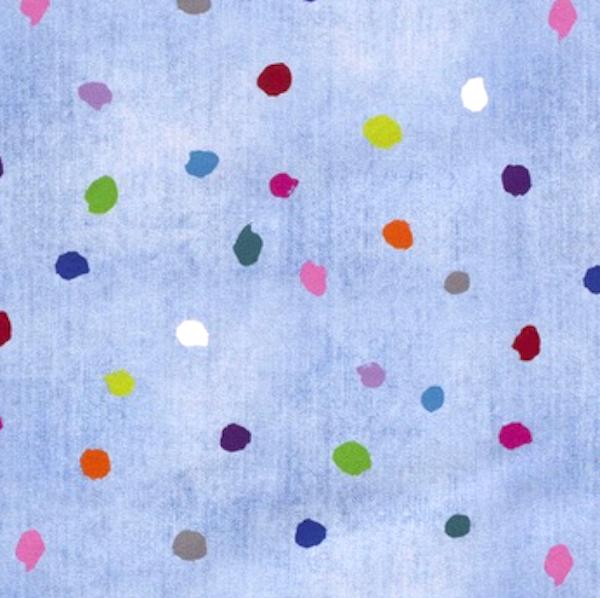 Digitaldruck Little Unicorn Tupfen hellblau-meliert, Jeansjersey