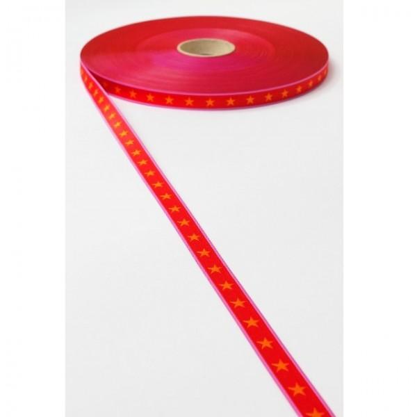 Sterneband, rot-orange, Webband