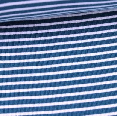 Felix Ringelbündchen weiß auf dunkelblau gestreift