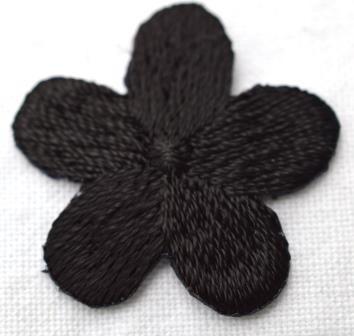 Applikation Blümchen, schwarz