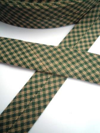 Westfalen Schrägband, karo dunkelgrün-beige