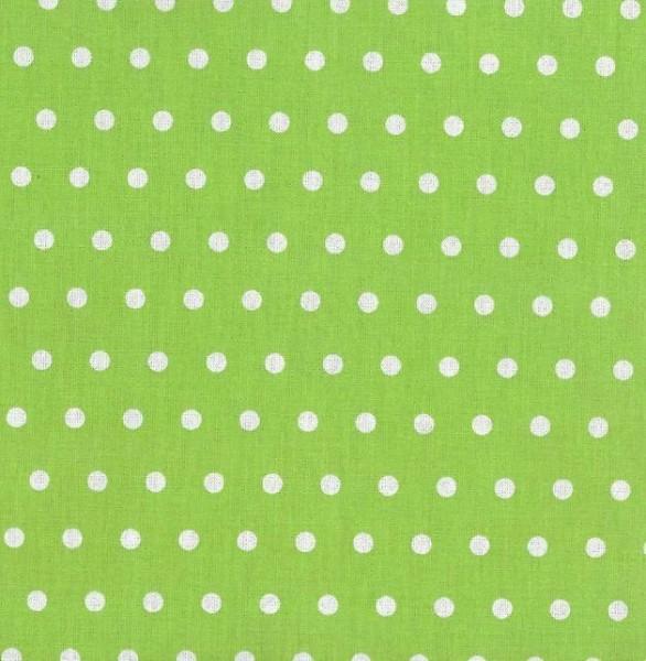 Alex, beschichtete Baumwolle, Punkte weiß auf hellgrün
