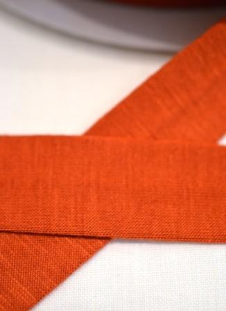 Viskosejersey-Schrägband, dunkles orange