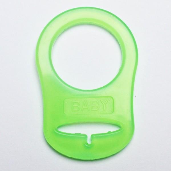 Silikonring für Schnuller, grün
