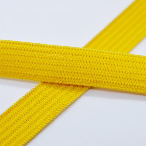 Flachgummi, gelb, 10 mm