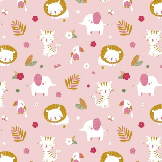 Junglemania, Tiere auf rosa, Jersey