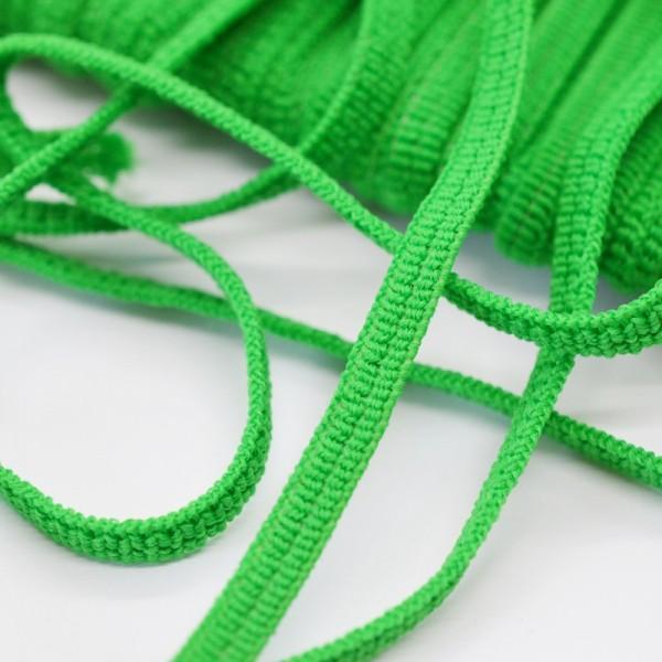 Flachgummi, grün, 5 mm