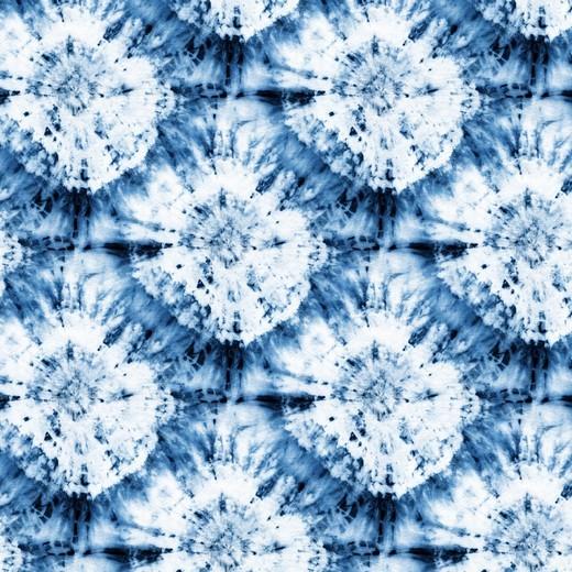 Tie Dye Blue, Baumwollstoff, waschbar bei 60°