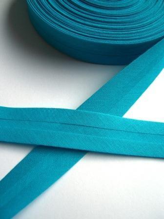 Schrägband, 20 mm, türkis