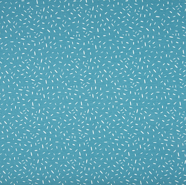 Isabell Confetti auf hellpetrol, Jersey