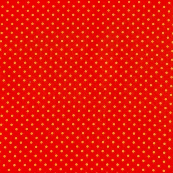 Stenzo Feincord, Pünktchen orange auf rot