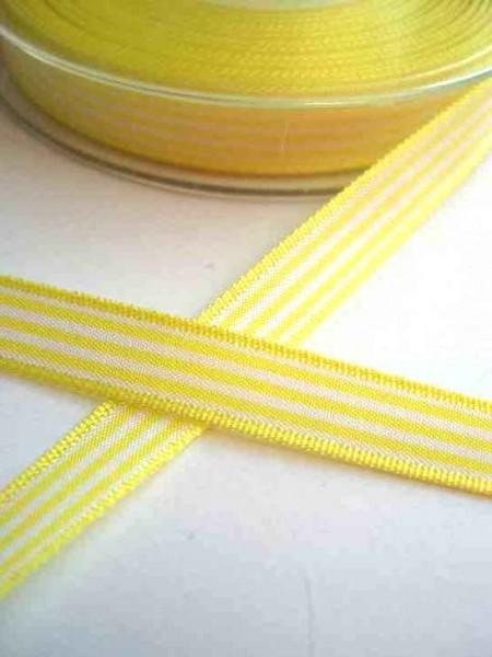 Stoffband, gelb gestreift, 10 mm