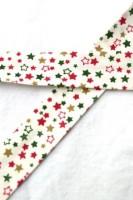 Schrägband, Weihnachten, Sterne, weiß