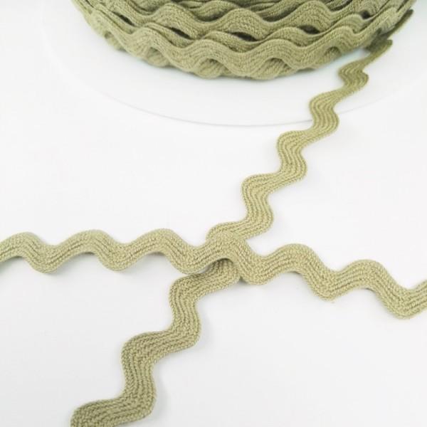 Baumwollzackenlitze 8 mm, dunkles leinen