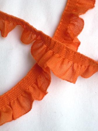 Rüschenband, orange