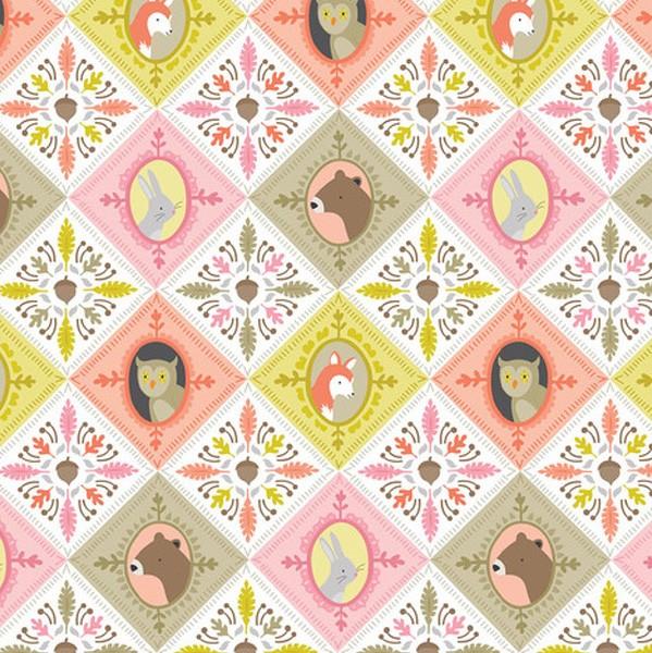 blendfabrics, Born Wild Karo-Tiere rosa