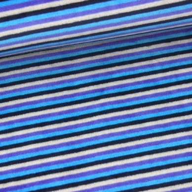 Nicky Streifen schmal, schwarz/blau-beige, Nicky