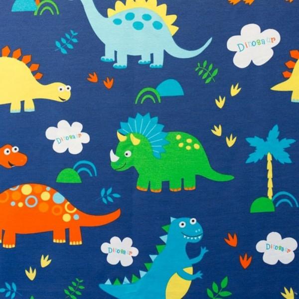 Dekostoff, Dinosaurier, dunkelblau *AKTION*