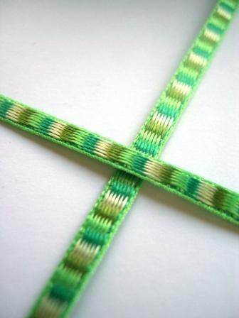 Stoffband, ditto grün, 3 mm