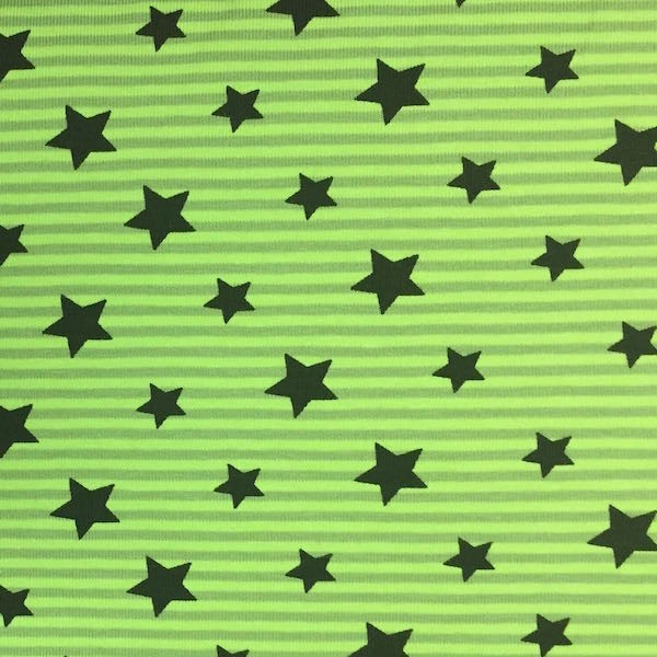 Stars & Stripes grün, Jersey, *Letztes Stück ca. 150 cm*